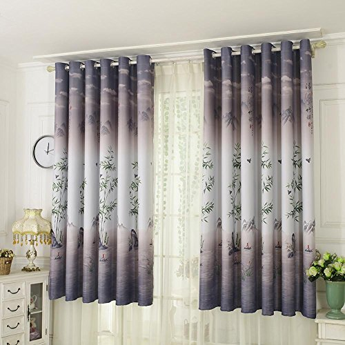 W46 x L90 Inch,Light Blue Kids Blackout Curtains for Bedroom Eyelet Thermal Insulated Room Darkening Cute Castle Unicorn Animal Printed Curtains for Nursery,Set of 2 Panels