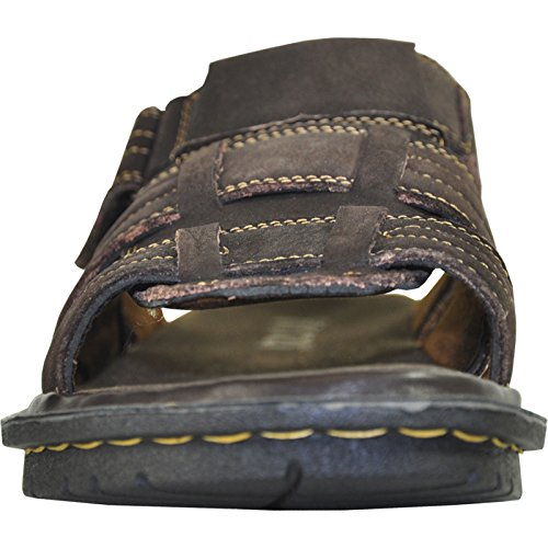 06 Sandal Brown Men DIEGO Stitching Details Genuine Upper Kozi With New Leather PSIqw55