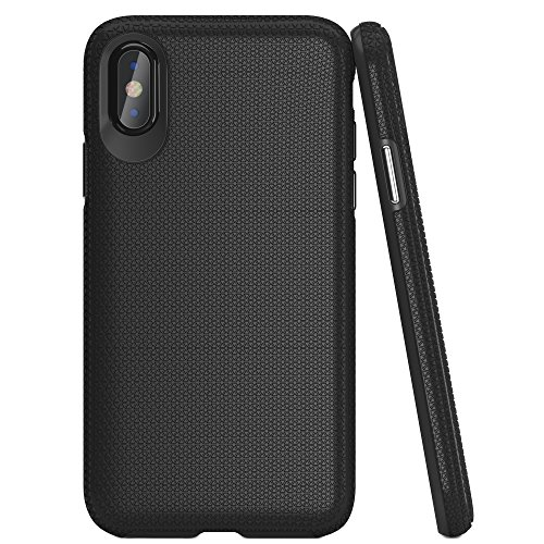iPhone X Case, Black, Drop Proof, Military Grade Armor, Slim & Stylish with Protective, Durable, Shock Absorbing Material and Non Slip Texture :: For Men & Women by LUPA, Fits Apple iPhone X
