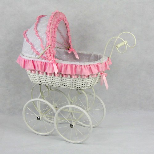 Regal Doll Carriages Jacqueline Doll Carriage Wicker Furniture (Wicker Doll Buggy)