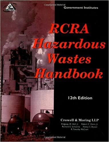 Book RCRA Hazardous Wastes Handbook 12th edition by Hall Jr., Ridgway M., Davis Jr., Robert C., Schwartz, Richar (2001)
