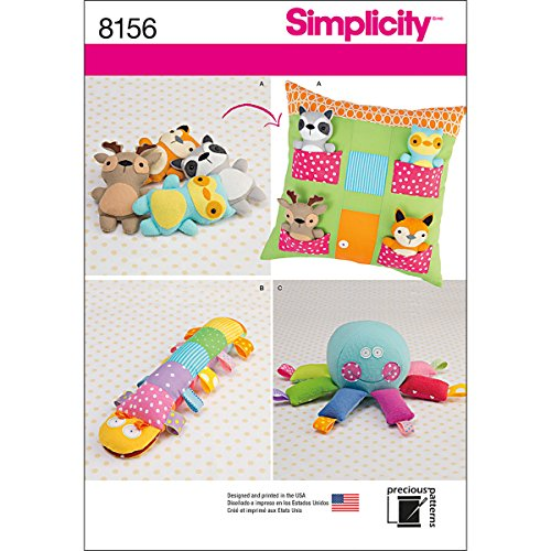 Simplicity Creative Patterns Simplicity Pattern 8156 Stuffed Animals with Pillow House and Stuffed Toys, Size: One Size (One Size)