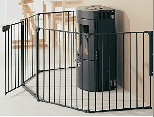 Bebemooi Baby Safety Fence BBQ Fire Gate Fireplace Metal Plastic Baby Safety Gate With Door