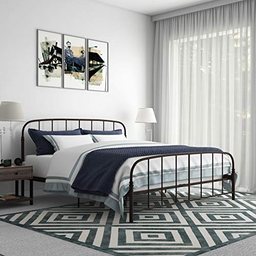 DHP Lafayette Metal Bed, Bronze, King