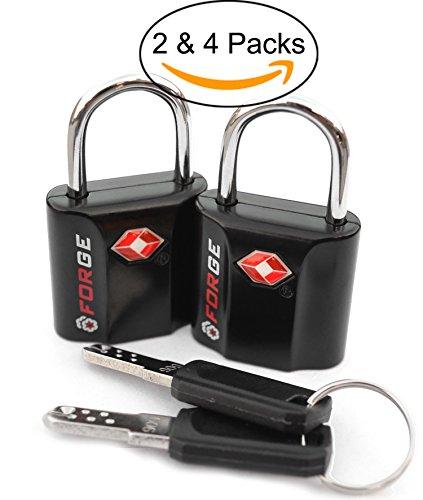 TSA Approved Luggage Locks, Ultra-Secure Dimple Key Travel Locks with Zinc Alloy Body
