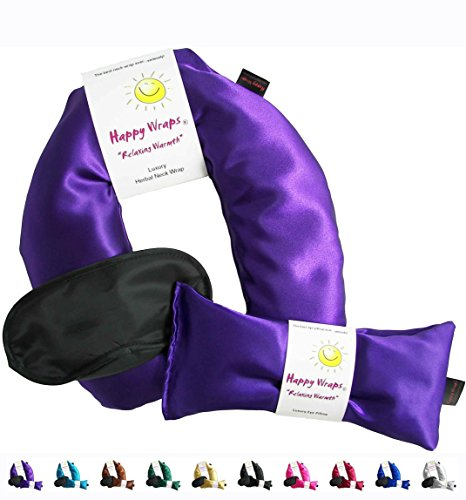 Happy-Wraps-Herbal-Neck-Wrap-wFree-Lavender-Eye-Pillow-Free-Sleep-Mask-Microwave-or-Freeze