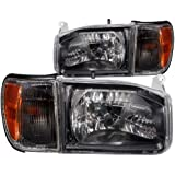 Anzo USA 111051 Nissan Pathfinder Crystal Black Headlight Assembly - (Sold in Pairs)