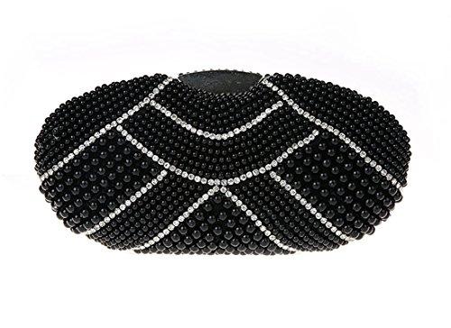 Soirée de de Femme Noir Cocktail Pochette Mini de Main Mariage Fête Ankoee à Portefeuille pour Sac Elégante Sac Sac IOwxwCqpf