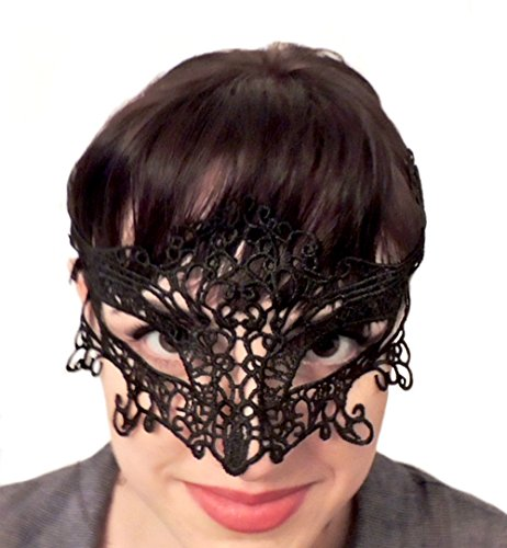Sexy Catwoman Lace Mask Cat Woman Black Cat Masquerade Mardi Gras - US (Batwomen Costume)