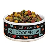 GiftsForYouNow All Breeds Personalized Pet Food Bowl, Multicolor