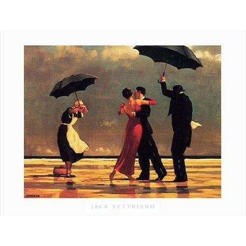 - Buyartforless The Singing Butler Jack Vettriano 32x24 Art Print Romantic Dancing Umbrellas