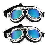 Protection Glasses - SODIAL(R) 2 x Safety Glasses Motocross Moto Vespa Sports Safety