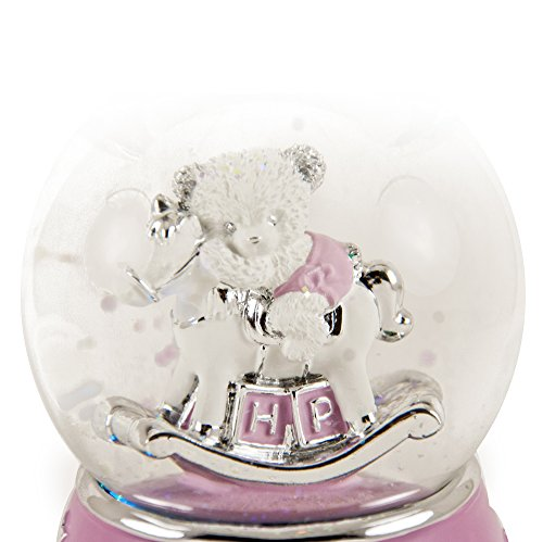 Adorable Pink And Silver Teddy Bear On Rocking Horse Animated Snow Dome - There is No Business Like Show Business by MusicBoxAttic (Image #2)