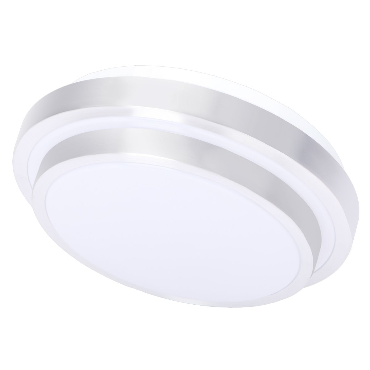 Drosbey 18W LED Flush Mount Ceiling Light, 10in, 160W Incandescent Bulbs Equivalent, 2000 Lumens, 5000K Daylight White, Round Lighting Fixture for Kitchen, Hallway, Bathroom, Bedroom