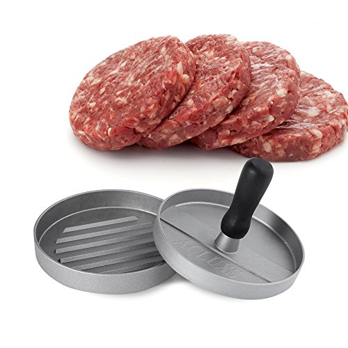 ACLUXS Hamburger Press Aluminum Burger Press, Heavy Duty Non-Stick Hamburger Patty Maker, Perfect Hamburger Mold Ideal for BBQ 12 months warranty is provided by Acluxs. without any worries. Hamburger Patty Press