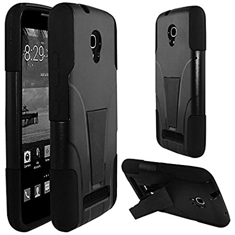 Alcatel One Touch Pop Mega Case, Premium Durable Hard&Soft Rugged Shell Hybrid Protective Phone Case Cover with Built in Kickstand【Storm Buy】 (Alcatel A995g Wallet Case)
