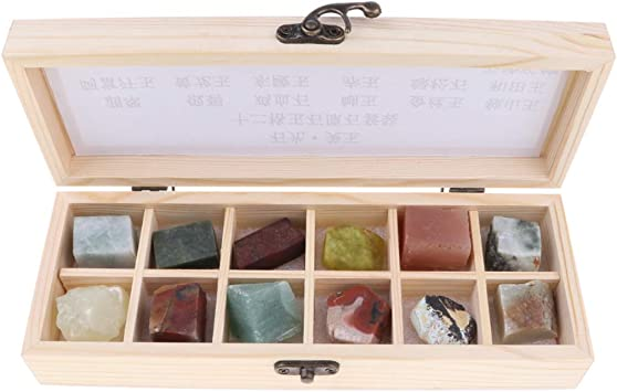 Sharplace Caja de 12 Piedras Muestra de Jade Gemas Minerales Rocas Piedras Preciosas de Colección: Amazon.es: Juguetes y juegos