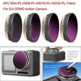 Zeshlla Adjustable Camera Lens Filters for DJI OSMO Action 4K Camera [MCUV/CPL/ND4/ND8/ND16/ND32]
