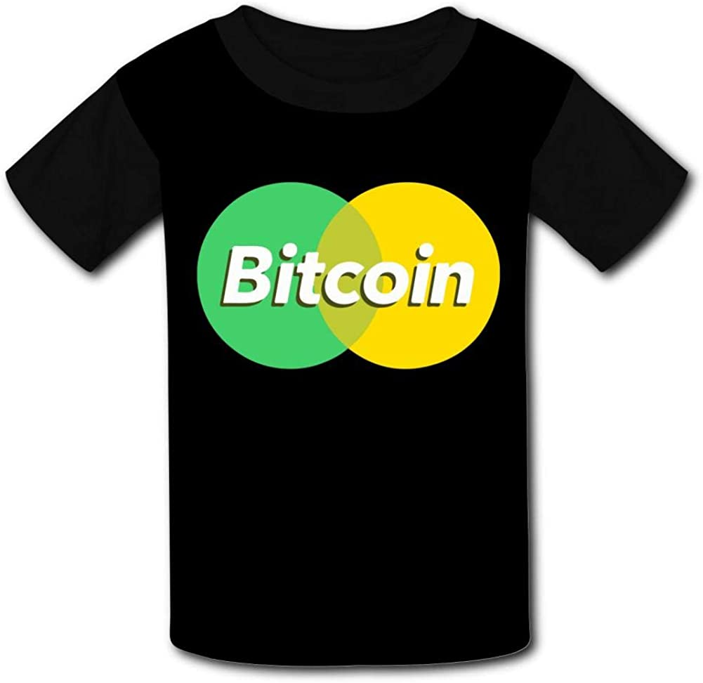 Knwazz Kids T-Shirts Mastercoin Bitcoin Cool 3D Printed Short Sleeve Top Tees for Boys Girls