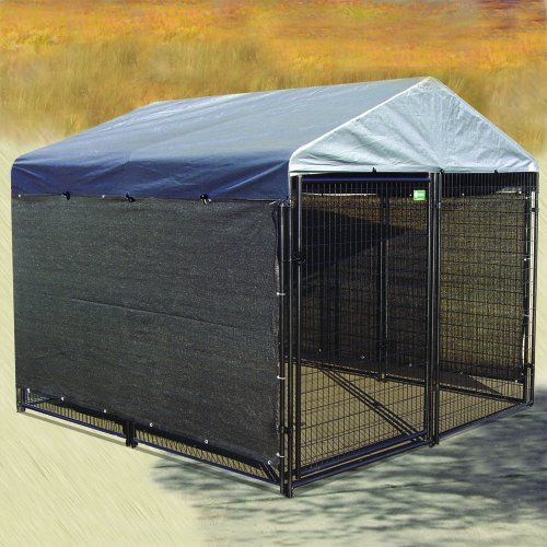 Dog kennel cover weatherguard all season dog run cover for All weather dog kennels