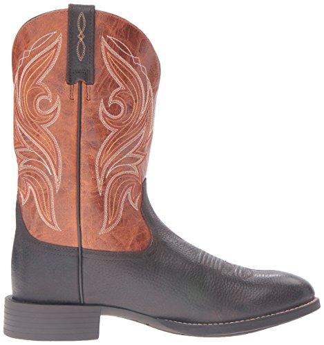 Ariat Mens Heritage Cowpuncher Western Cowboy Boot Ferro Caffè Bicolore Tan