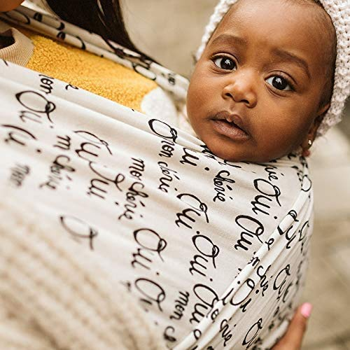 Boba Wrap Baby Carrier, Bebe Oui - Original Stretchy Infant Sling, Perfect for Newborn Babies and Children up to 35 lbs
