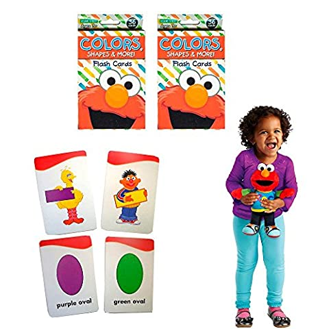 2Pk Flash Cards Elmo Sesame Street Early Learning Games Colors Shapes Character - Elmos Shape