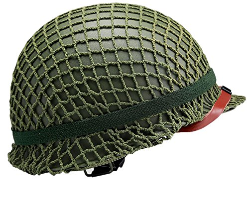 OSdream Retro Version WWII US Military Steel M1 Green Helmet (Us Army Wwii)