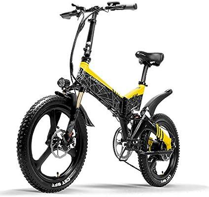 LANKELEISI Bicicleta eléctrica G650 Bicicleta de montaña de 20 ...