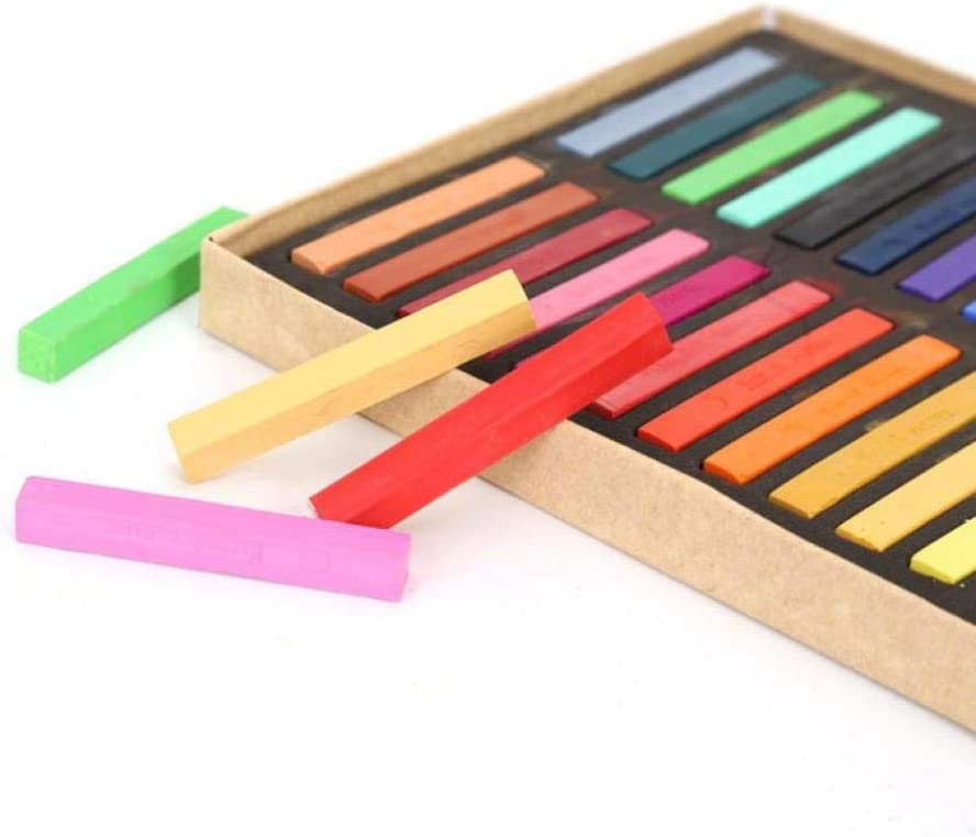 12 Colors Assorted Chalk,Multi-Coloured,for Children,Teachers for The Blackboard and Street Chalk