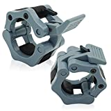 """Barbell Clamps Collars Quick Release 2"""" Solid Nylon Locking Clamps for Crossfit, OHP, Squats, Deadlifts, Cleans, Snatches by SPURBO SPORTS"""