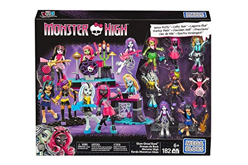 Mega Bloks Monster High Glam Ghoul Band Building Kit - Rock Out With 8 of Your Favorite, Super Detailed, Fashionable Characters and Instruments - Combine with Other Monster High Sets - Ages 6 Plus ()