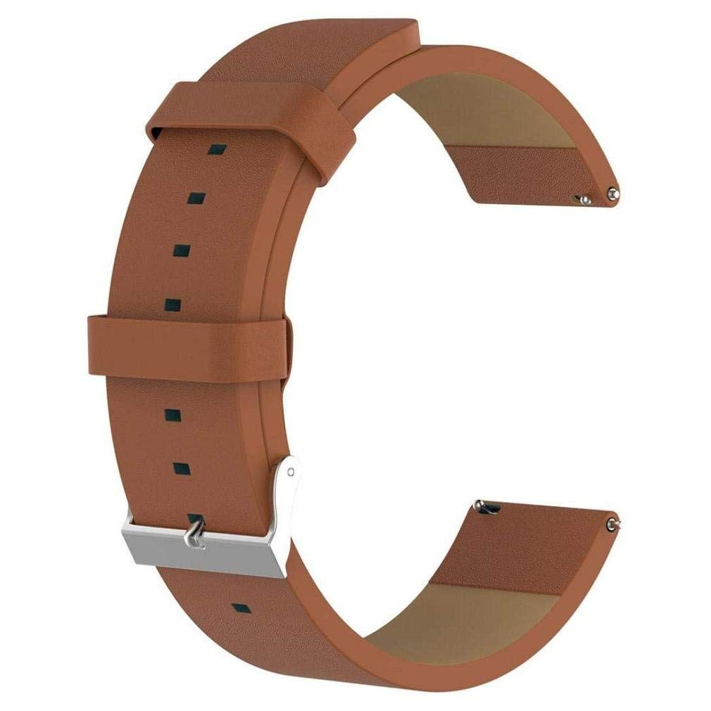 Fashion Clearance! Noopvan Fitbit Versa Strap, Luxury Leather Bands Replacement Accessories Wristband Straps for Fitbit Versa (Brown)