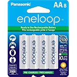 Panasonic BK-3MCCA8BA Eneloop AA 2100 Cycle Ni-MH Pre-Charged Rechargeable Batteries (Pack of 8) - BK3MCCA8BF