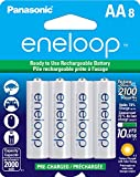 Panasonic BK3MCCA8BA  Eneloop AA New 2100 Cycle Ni-MH Pre-Charged Rechargeable Batteries, 8-Pack