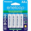 Panasonic BK-3MCCA8BA Eneloop AA 2100 Cycle Ni-MH Pre-Charged Rechargeable Batteries (Pack of 8)