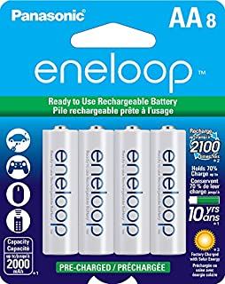 Panasonic BK-3MCCA8BA Eneloop AA 2100 Cycle Ni-MH Pre-Charged Rechargeable Batteries (Pack of 8) - BK3MCCA8BF (B00JHKSN5I) | Amazon Products