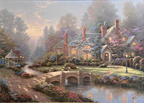 $50-$2000 Handmade Paintings by College Teachers - Beyond Spring Gate Thomas Kinkade Impressionism - Decorative Oil Paintings on Canvas for Wall Art Decor -Size03