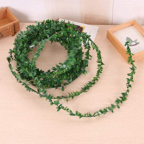 Euone  Ivy Leaf Clearance Sale , NArtificial Ivy Leaf Garland Plants Vine Fake Foliage Flowers Home Decor 7.5m
