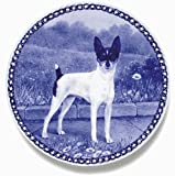 American Toy Terrier Lekven Design Dog Plate 19.5 cm /7.61 inches Made in Denmark NEW with certificate of origin PLATE #7467