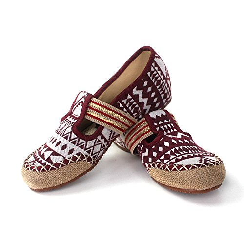 Fondo Retro four Y Thirty SSBY Natural Treinta Rojo Dichotomanthes Nueve Zapatos Lino w7xCAFq
