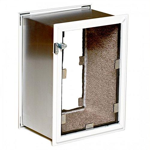 Hale Pet Door Wall Model Medium White Double Flap