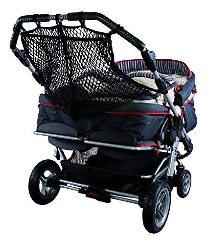 Sunnybaby 850120019 Kinderwagen-Einkaufsnetz für Zwillingswagen, schwarz