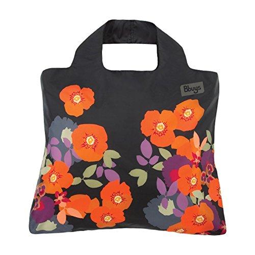 Envirosax Bloom Shopper Einkaufstasche–Schwarz mit Mohn