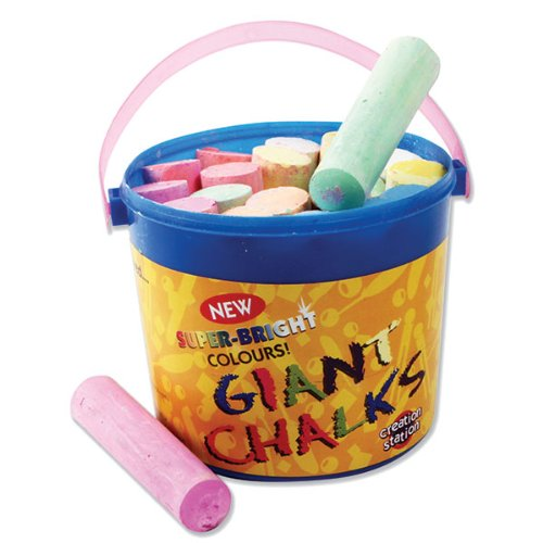 Tub of 20 Giant Chalks - Assorted Colours Be Creative