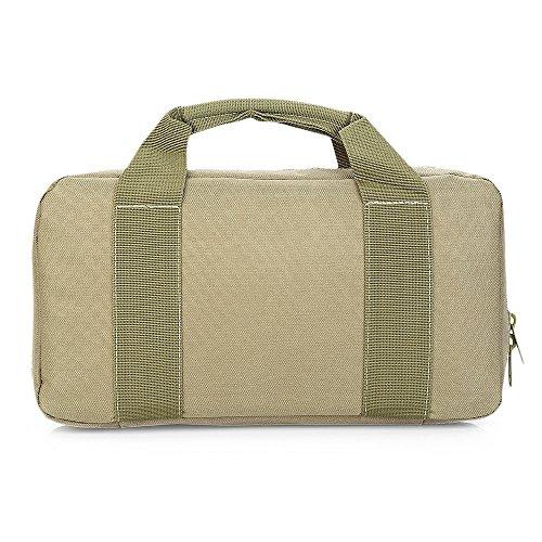 Multifunktional Tactical Handtasche MOLLE Aktentasche Tote Handgelenk Pack Verschleißfest Messenger Laptop Tasche khaki mRVjk