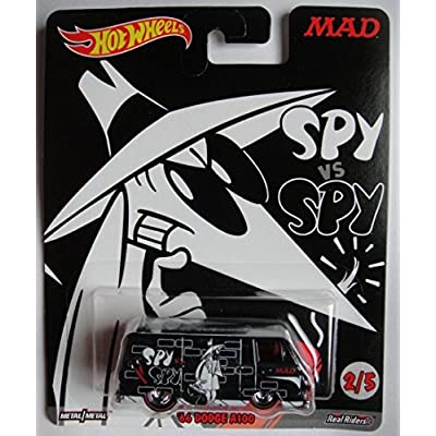 HOT WHEELS POP CULTURE WHITE SPY VS BLACK SPY, BLACK '66 DODGE A100 2/5: Toys & Games