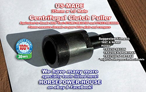 35mm Male Clutch Puller Tool Made In USA for Honda Recon TRX250 & Sportrax TRX250EX / Sportrax TRX250X ATV Quad - Comparable Equivalent for OEM Tool 07923-HB3000A ***NOT KNOWN FOR LARGER HONDA MODELS