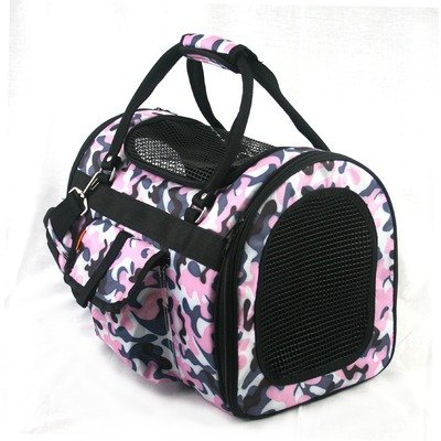 Prefer Pets Light Weight Soft Siided Pet Carrier, Pink Camouflage, My Pet Supplies