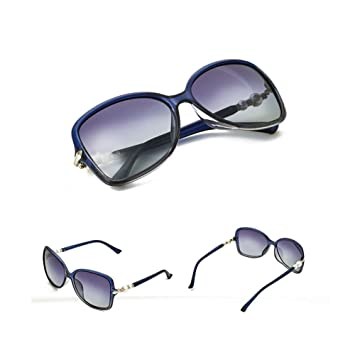 Z&HA Gafas De Sol con Lente Polarizada - Perla Circular con ...